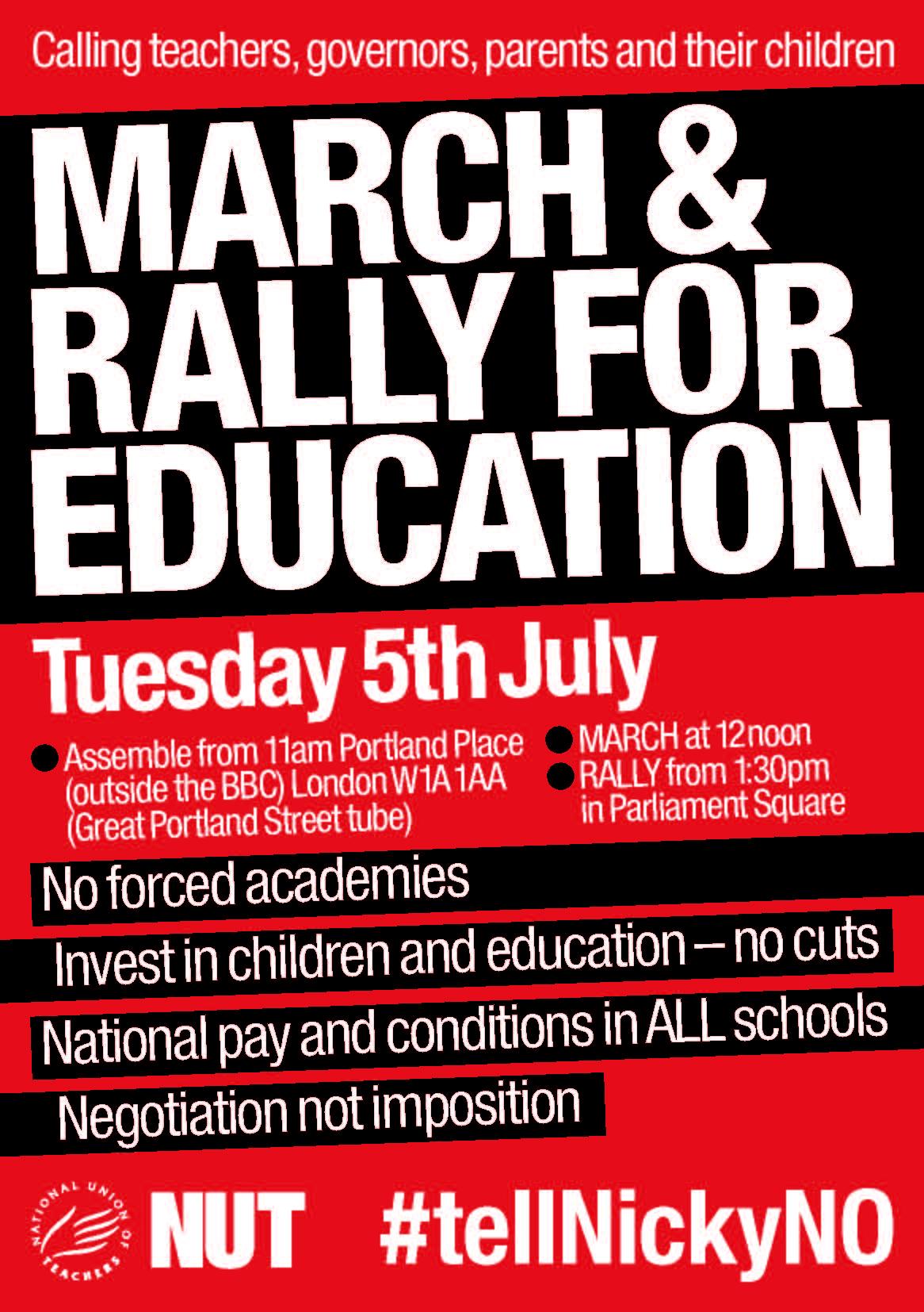 NUT 5 July 2016 London flyer