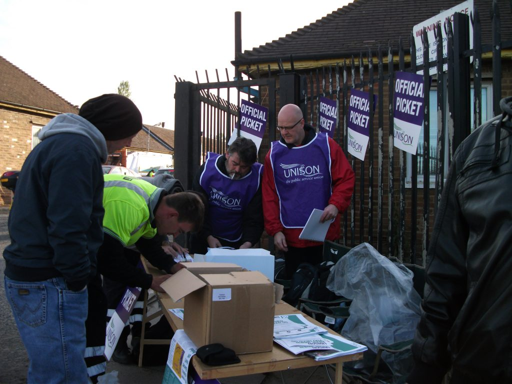 recruiting on a picket line