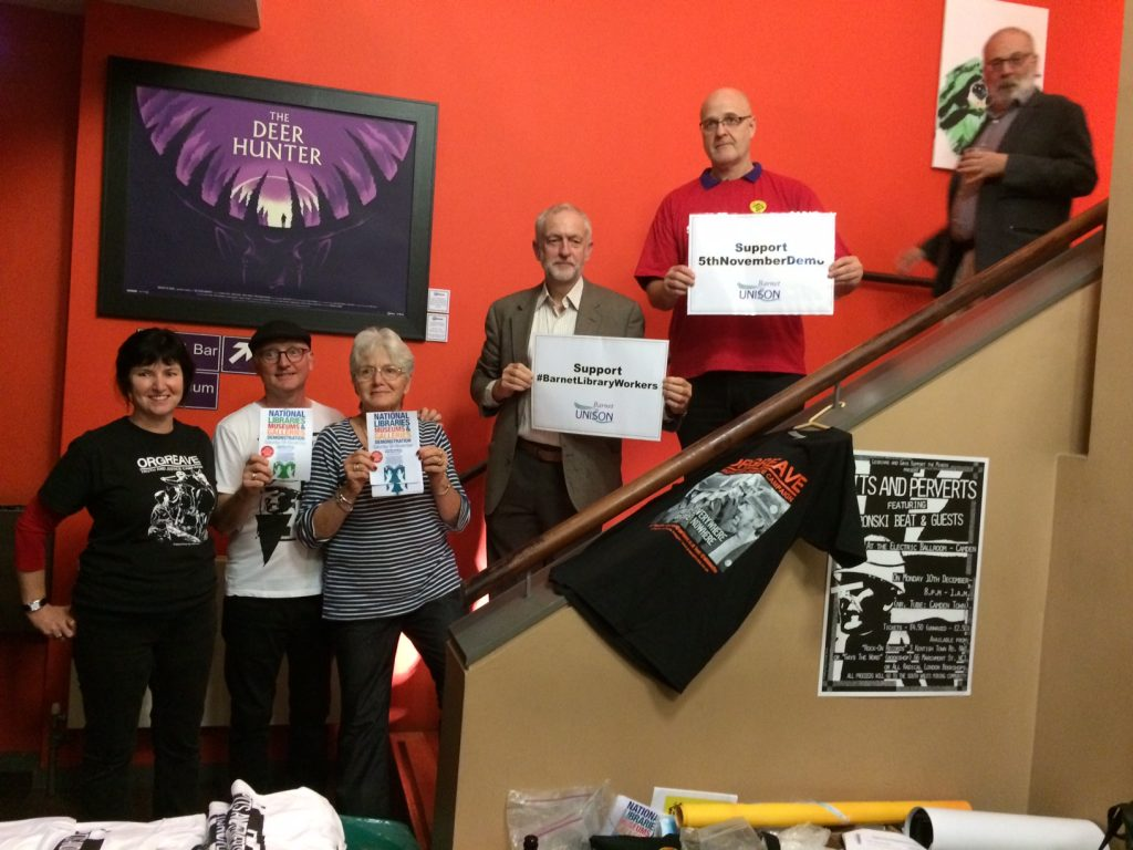 Jezza supports Barnet Library workers
