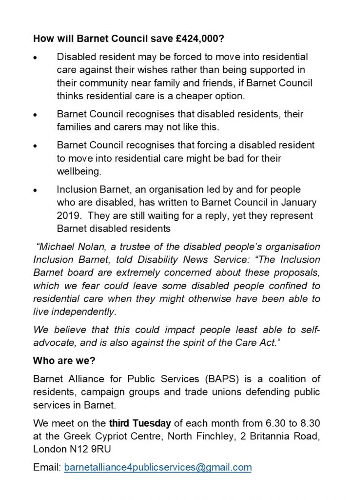 Barnet UNISON A Trade Union For Barnet Council Workers And